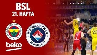 BSL 21. Hafta Özet | Fenerbahçe Beko 90 - 73 Bahçeşehir Basketbol