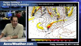 Friday 12-23-2011 Morning Weather Forecast Update and Video