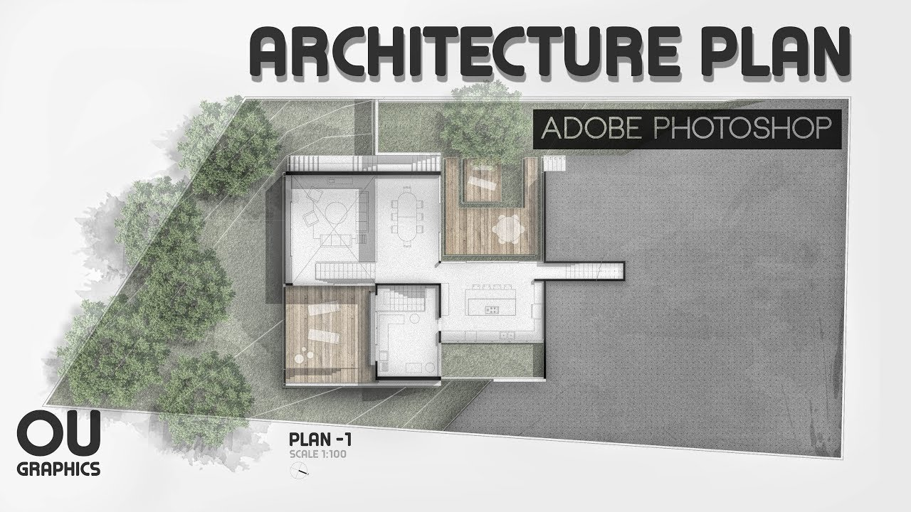 Easy Architecture Plan In Adobe Photoshop