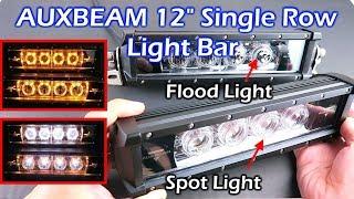 """AUXBEAM 12"""" Single Row Light Bar ( Spot Light / Flood Light )"""