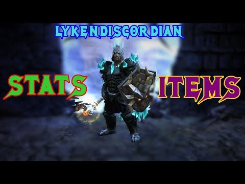 Drakensang Online | LykenDiscordian STATS İTEMS 2018 (STRONG WARRIOR!!) Before 213/214 release
