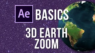 Simple 3D earth zoom tutorial - Adobe After Effects