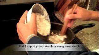 Tibetan Food: How to make Tibetan-Style Laping: Cold Mung-Bean Noodles
