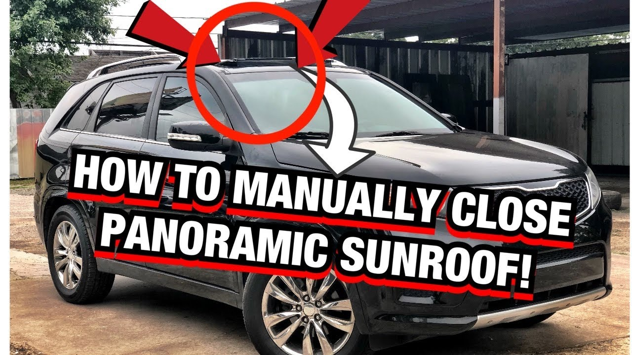 How To Manually Close A Panoramic Sunroof How To Manually Close Any Sunroof Youtube