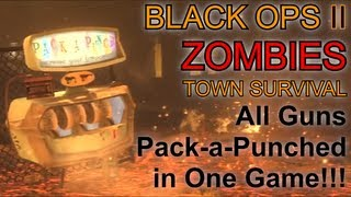 All Guns Pack a Punched in One Game | Black Ops 2 Zombies Challenge Game