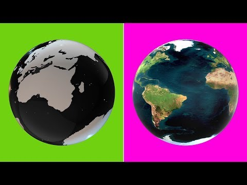 Glass Earth Globe 3D Rotation -  Green Screen Animation (Loop)