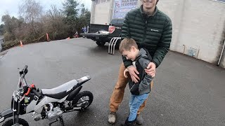 Surprising my nephew with a new dirt bike