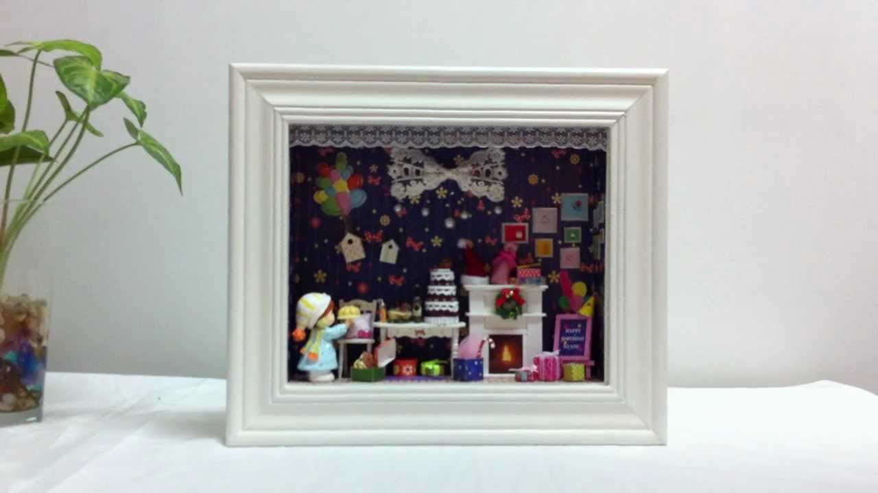 diy dollhouse miniature in a 3d frame box tour of dream