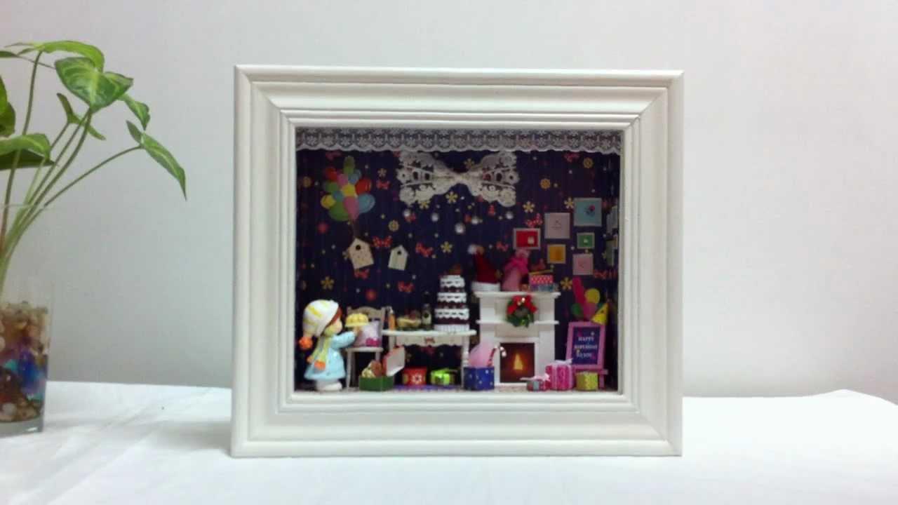 diy dollhouse miniature in a 3d frame box tour of dream