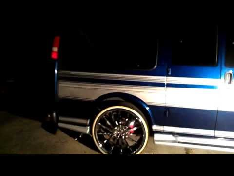 2004 Chevy Express Van on 26 inch Bogue Tires - YouTube