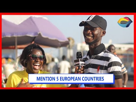 MENTION 5 EUROPEAN COUNTRIES | Street Quiz | Funny Videos | Funny African Videos | African Comedy