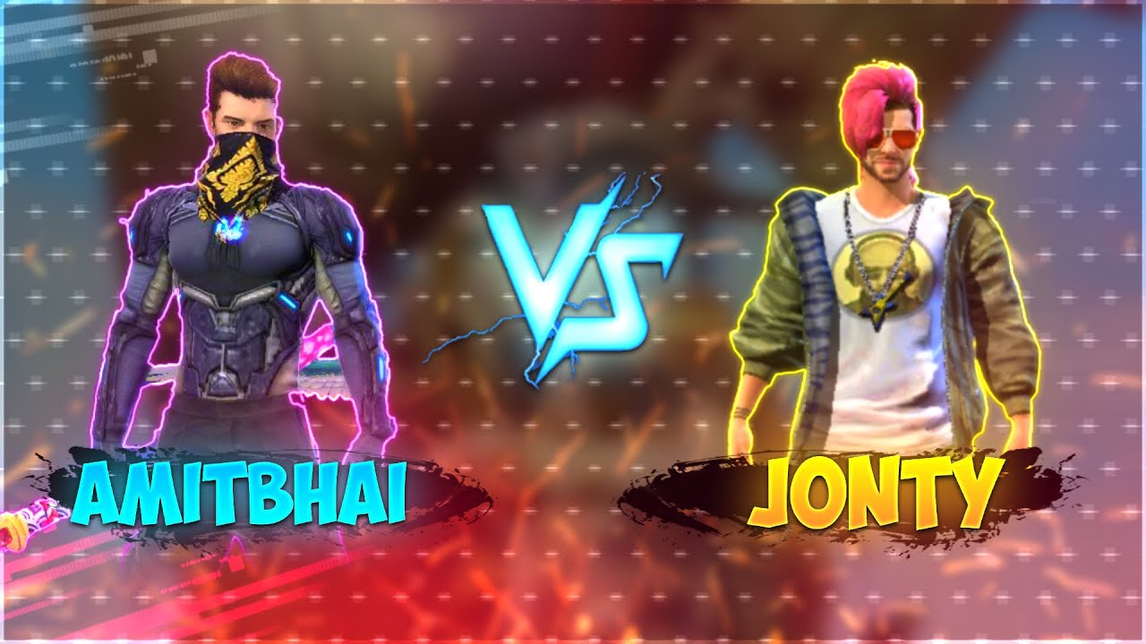 AmitBhai Vs Jonty    1 vs 1 Clash Battle    Free Fire - Desi Gamers
