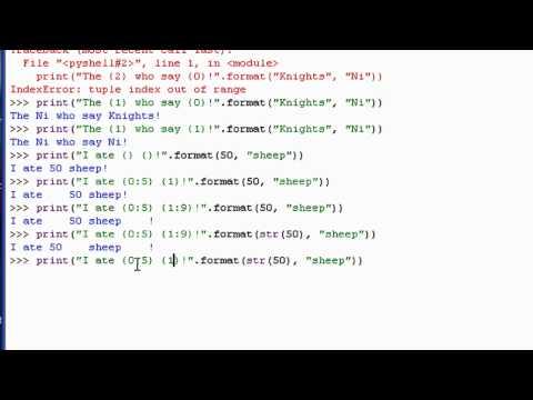 Python 3 Tutorial: 18 - Formatting