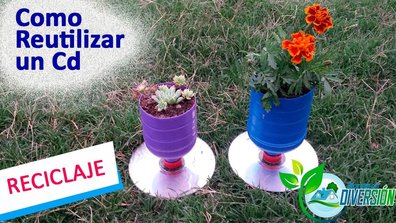 Como reutilizar un cd decoraci n con reciclaje ideas for Ideas decoracion reciclaje
