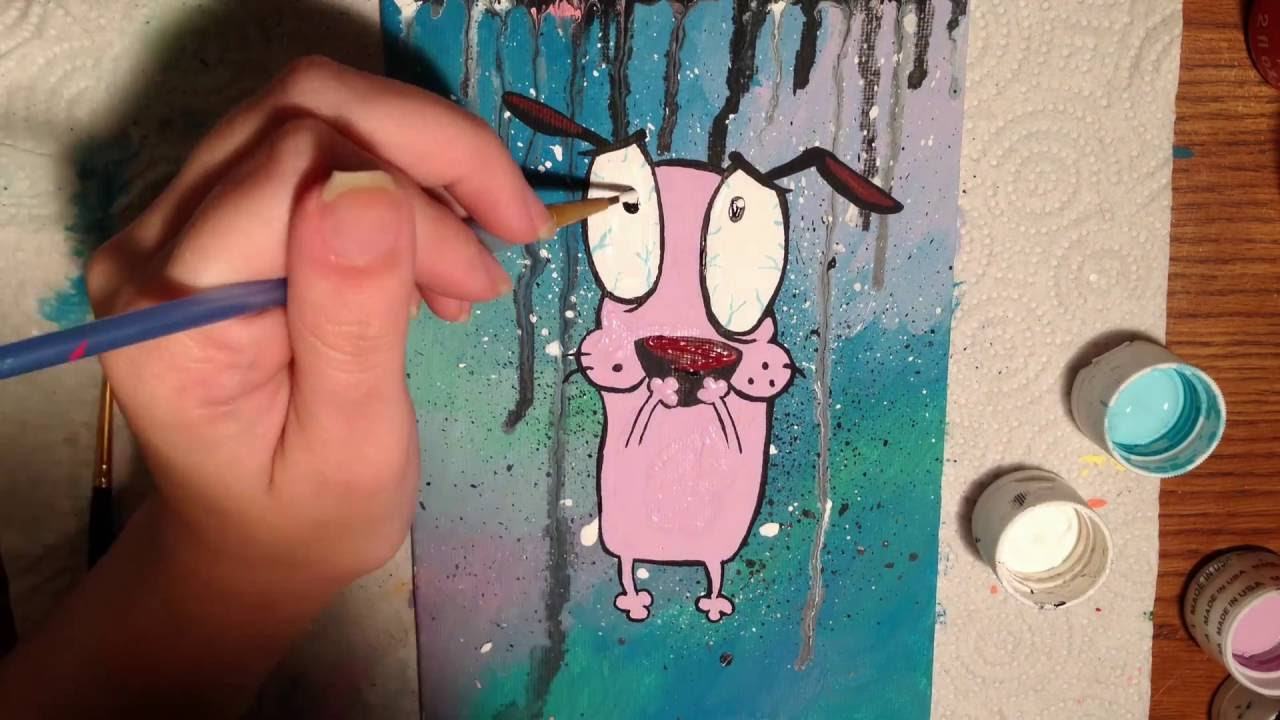 Speed Painting Courage The Cowardly Dog Youtube