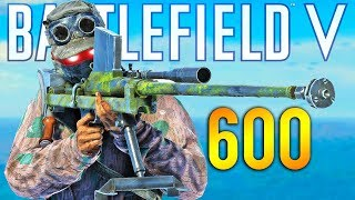 What 600 HOURS of SNIPING Experience Looks Like ⏰ Battlefield 5