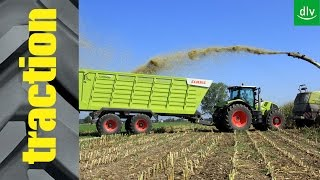 Claas Cargos 750 in der traction-Arbeitsprobe