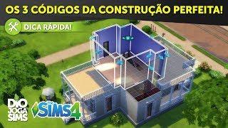 OS 3 CÓDIGOS DA CONSTRUÇÃO PERFEITA NO THE SIMS 4! |  Dicas de Construção