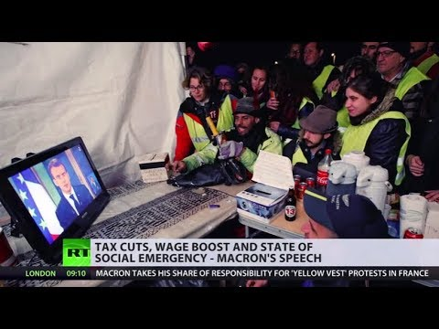 'Nice speech, but I don't trust him': Yellow Vests react to Macron's address