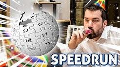 Speedrun Wikipédia - L'Esport de 2020 !