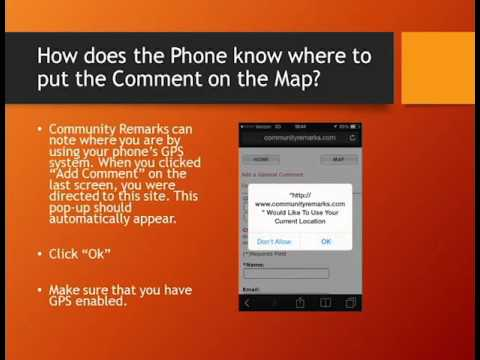 Community Remarks Mobile App Instructions
