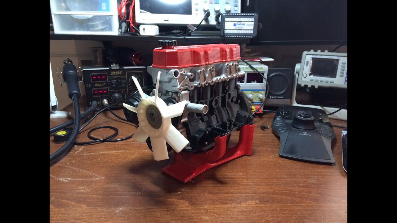 3d Printed Toyota 22re Engine Youtube