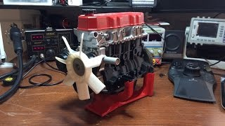 3D printed Toyota 22RE engine