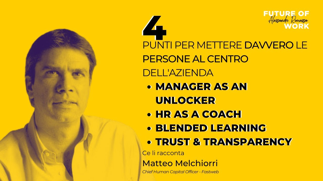 HR Interview: Matteo Melchiorri, Chief Human Capital Officer Fastweb