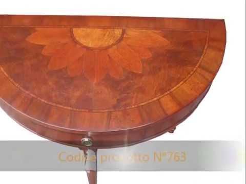 Tavolo Consolle Mezzaluna Allungabile.Mobili Classici Da Ingresso Tavolino A Consolle A Mezzaluna Stile