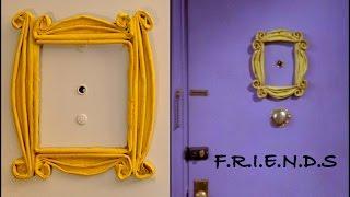 DIY Newspaper Door Peephole frame - F.R.I.E.N.D.S