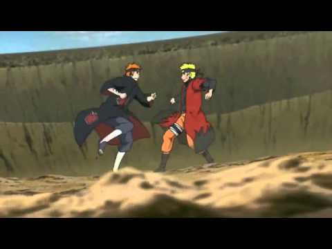 Naruto vs Pain Not Afraid (HD)