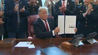 Streit um die Mauer: Demokraten wehren sich gegen Trumps Veto