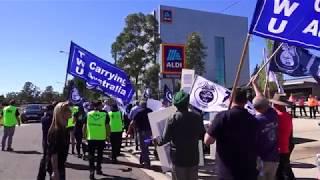 Protest at Aldi DC in Sydney