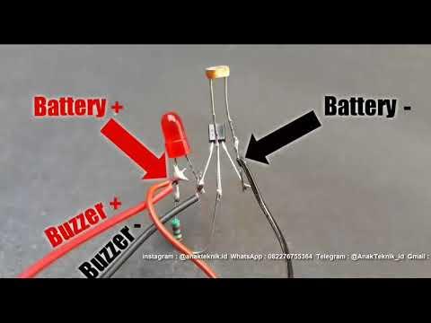 Tutorial Membuat Sistem Alarm Keamanan Lampu Laser