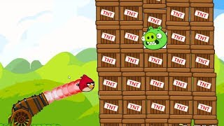 Angry Birds Cannon Collection 4 - BLAST BAD PIG INSIDE 100 TNT! Joi...