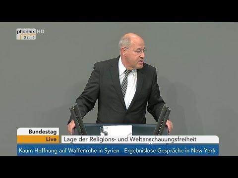 Bundestag: Debatte zur Lage der Religions- und Weltanschauungsfreiheit am 23.09.2016