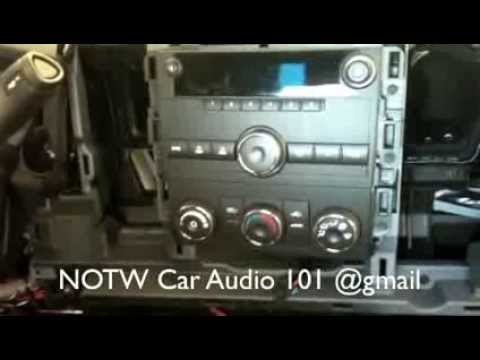 How to remove 2007-2013 Chevy silverado radio - YouTube