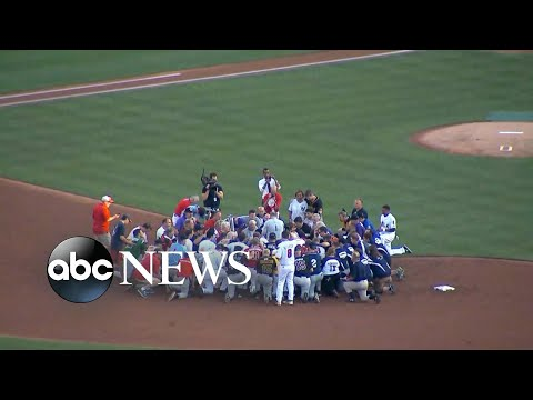 Republicans and Democrats honor Rep. Steve Scalise at annual baseball game