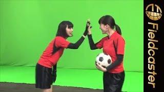 【最強コンビ】綾瀬はるかと池田エライザがサッカー!