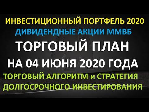 ТОРГОВЫЙ ПЛАН на 04 июня 2020 года - инвестиции в акции ММВБ. Торговый алгоритм и стратегия. Обзор.