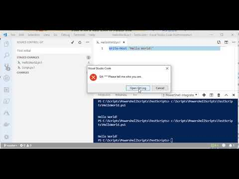 Solved Visual studio Code make sure you configure your user