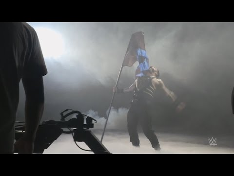 Go behind the scenes of the WWE Battleground commercial shoot