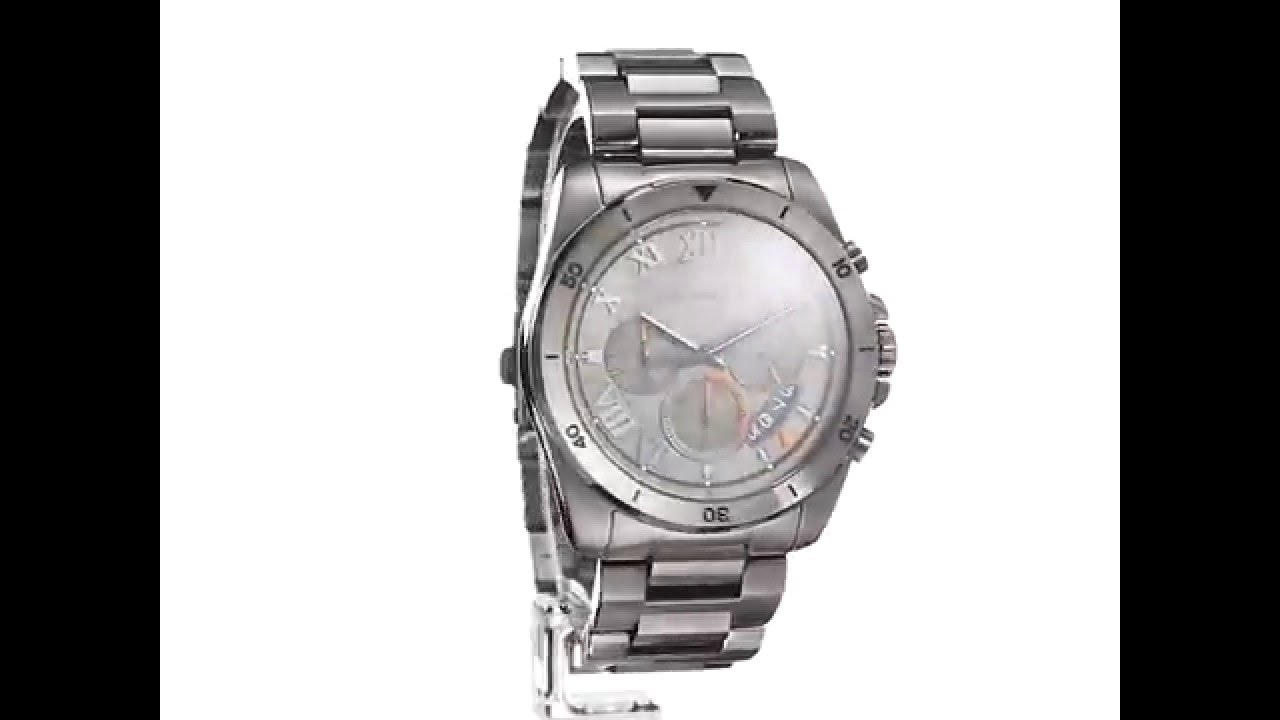 d3041404a24c Michael Kors Men s Brecken Gunmetal Watch MK8465 Clothing - YouTube