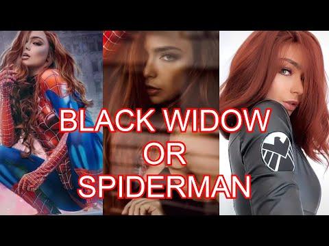 #BLACKWIDOW #SPIDERMAN CAITCHRISTINEE