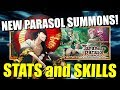 NEW JAPANESE PARASOL CHARACTERS STATS AND SKILLS! Bleach Brave Souls