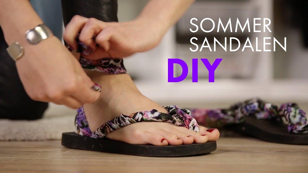 Diy Sommersandalen Aus Flip Flops Upcyling Tutorial How To Wear
