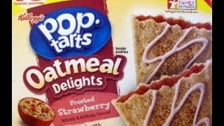 Snack Talk #9 Pop Tarts Oatmeal Delights Frosted Strawberry Review!