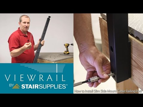 How to install Slim Side Mount Cable Railing Post - Stair Supplies