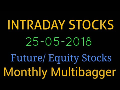 Day trading stocks 25-05-2018  Best stocks with huge potential for intraday