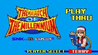 SNK vs. Capcom: Match of the Millennium - Terry Playthrough
